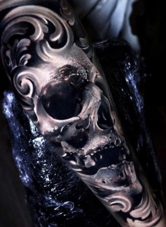 Tattoo Skull contemporary vision of realism